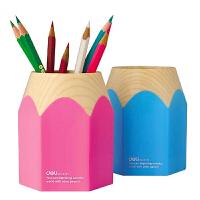 得力 Deli 9145 彩色大铅笔头 笔筒 可爱 卡通 创意 时尚 铅笔筒