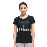 特步夏季字母印花图案女短袖T恤透气上衣983128011643