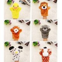 儿童腹语手套表演布偶兔子手指玩偶毛绒娃娃动物手偶玩具头部能动
