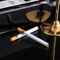 鬼火飞火砂轮打火机透明圆柱型创意金属造型长条点烟器烟形充气砂轮明火圆柱形打火机