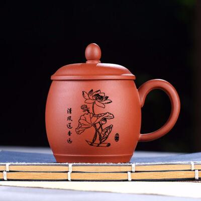 宜兴紫砂杯泡茶杯非陶瓷男士纯全手工办公室内胆杯喝水大杯子