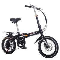 儿童折叠山地自行车16寸20寸一体轮变速碟刹男女式减震单车