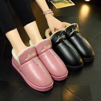 棉拖鞋男女冬季家居室内包头情侣厚底防滑加棉保暖拖鞋