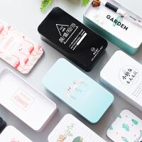 尤美●韩版彩色收纳盒桌面创意单双层马口铁杂物文具整理盒铁盒子
