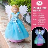 中秋节儿童手提发光音乐灯笼女孩万向天使公主玩具芭比灯笼