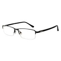 防辐射眼镜护目平光镜男近视防蓝光电脑眼镜无度数商务金属半框架