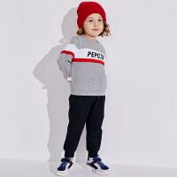 【2件3折价:93】小猪班纳童装男宝宝长袖卫衣2019秋季新款男童运动裤儿童两件套
