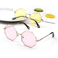 韩版潮浅色镜片儿童太阳镜个性宝宝菱形眼镜男童女童户外墨镜