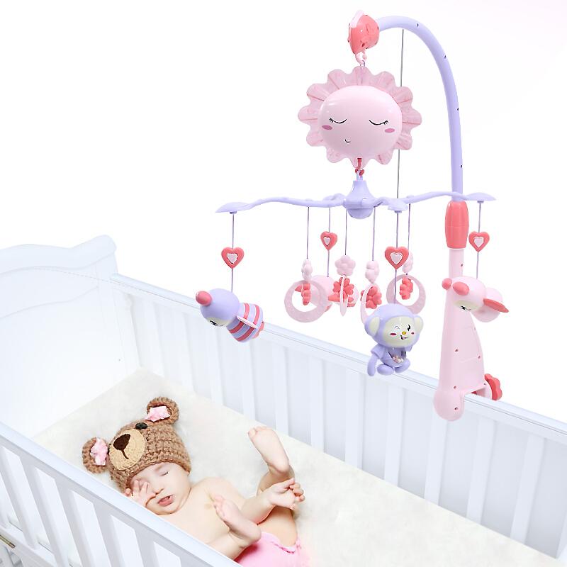 婴儿玩具床铃 音乐旋转投影新生儿童益智玩具牙胶摇铃 床头铃绕床挂饰男孩女孩0-1岁礼盒装