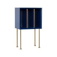 []越读书边柜/大理石床头柜北欧简约现代沙发边几角几 深蓝色 现货