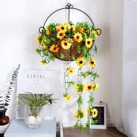 家居客厅餐厅墙面墙壁墙上软装饰品壁挂创意吊兰挂饰仿真植物挂件