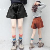 女童冬装短裤外穿韩版洋气儿童中大童12-15岁女孩童装潮