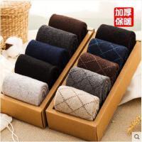 秋冬款羊毛袜运动袜子男士冬季中筒棉袜加厚加绒保暖毛巾长袜