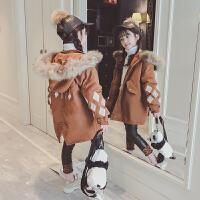 韩版中大童9冬装菱形10小女孩棉衣11岁潮女童装洋气