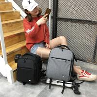 多功能佳能尼康单反双肩摄影包防水相机包男女户外轻便款背包 灰色小号+礼品 带USB