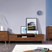 北欧实木沙发组合木头三人布艺可拆洗简约现代新中式客厅成套家具 组合