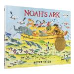【中商原版】英文原版 Noah's Ark 诺亚方舟 凯迪克金奖 无字图画书绘本 无字书 大奖绘本 Peter Spi
