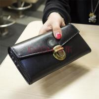 女士钱包 钱夹真皮手机零钱银包男士四季钥匙钱夹女士简约多功能经典小钱印花 黑色