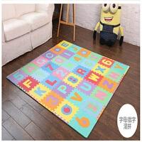 儿童爬行垫宝宝数字字母泡沫地垫婴儿益智拼图地板爬爬垫 字母+数字 _ 36片装 (单片30*30*1.0cm)