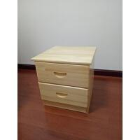松木床头柜收纳柜实木简易两抽卧室储物床边柜现代抽屉柜 组装