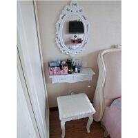 欧式梳妆台卧室小户型迷你化妆桌简约现代化妆台经济型梳妆桌50cm 组装