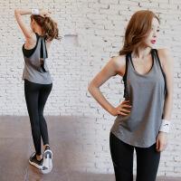 �\�颖承呐���松�L款速干��文胸震跑步健身瑜伽罩衫�o袖上衣背心