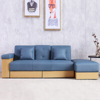 日式北欧布艺沙发床两用可折叠多功能小户型双人懒人沙发