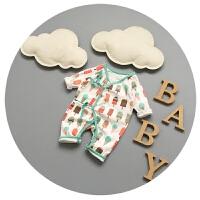 新生儿衣服春秋婴儿连体衣纯棉1-3-5-9-个月蝴蝶哈衣可爱卡通爬服