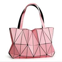 几何包菱格女包2018新款夏季手提单肩三角潮包洛 红色