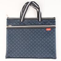 A4防水加厚双层手提资料袋 拉链袋帆布文件包双层男士办公文件袋 单个
