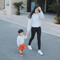 亲子装夏季防晒服全家装母女装6个月男宝宝9女童外套装春夏