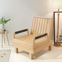 实木沙发床可折叠客厅小户型书房阳台两用多功能单人床 1.8米-2米