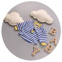 宝宝长袖T恤纯棉春秋夏季宽松婴儿打底衫蝙蝠衫0-1-2岁儿童上衣潮