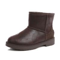 冬季厚底雪地靴女短筒韩版加绒加厚防滑百搭学生棉鞋