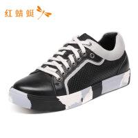 红蜻蜓男鞋春秋新款时尚休闲系带休闲印花简约潮流板鞋