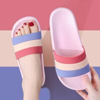 韩版拖鞋女夏天家用室内居家防滑厚底情侣家居一对洗澡浴室凉拖鞋