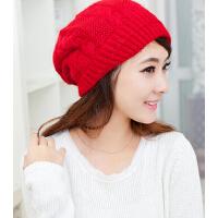 兔毛帽子女士冬天新款冬季帽子女韩版 潮可爱贝雷帽毛线帽针织帽