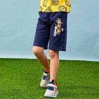 【3件3折到手价:57】小猪班纳男童短裤夏季新款儿童五分裤休闲卡通印花