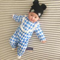 婴儿连体衣服新生儿宝宝0岁3个月可爱1季3装冬季冬装睡衣