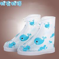 物有物语 雨鞋套 雨天男女学生防水防滑鞋套幼儿园儿童户外便携式防沙雨靴加厚耐磨底低筒雨鞋雨具