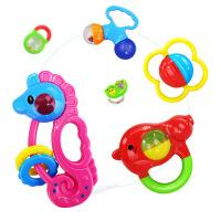 宝宝益智玩具婴儿摇铃新生儿摇铃牙胶礼盒8件套支持