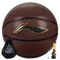 李宁篮球LBQG030-P比赛训练用球PU球水泥地室外室内用球