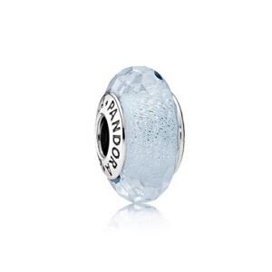 PANDORA潘多拉 浅薄荷色闪烁琉璃925银琉璃串饰791656