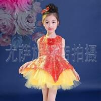 六一儿童演出服女童唐装公主裙连衣裙 中国风刺绣蓬蓬裙