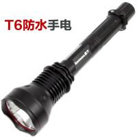 LED T6灯珠大功率充电强光手电 防狼防爆打猎 日常携带 探洞强光防身战术手电筒