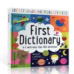 顺丰发货 英文原版绘本 First Dictionary A-Z 初级字母词典 儿童英语启蒙 more than 40