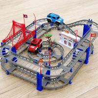 【限时抢】童励百变轨道车拖马斯拼装电动高速轨道益智玩具儿童diy玩具