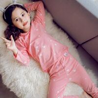 儿童睡衣冬季可爱女孩保暖长袖套装秋冬款女童柔软透气家居服