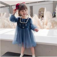 女童连衣裙春装儿童洋气宝宝裙子长袖春秋网红公主裙