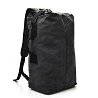 新款双肩包男士背包帆布包大容量水桶包户外旅行包运动多功能男包